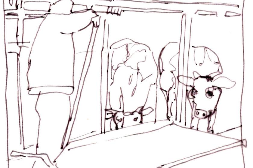 Zeichnung vom Hof Langenberg aus dem Projekt