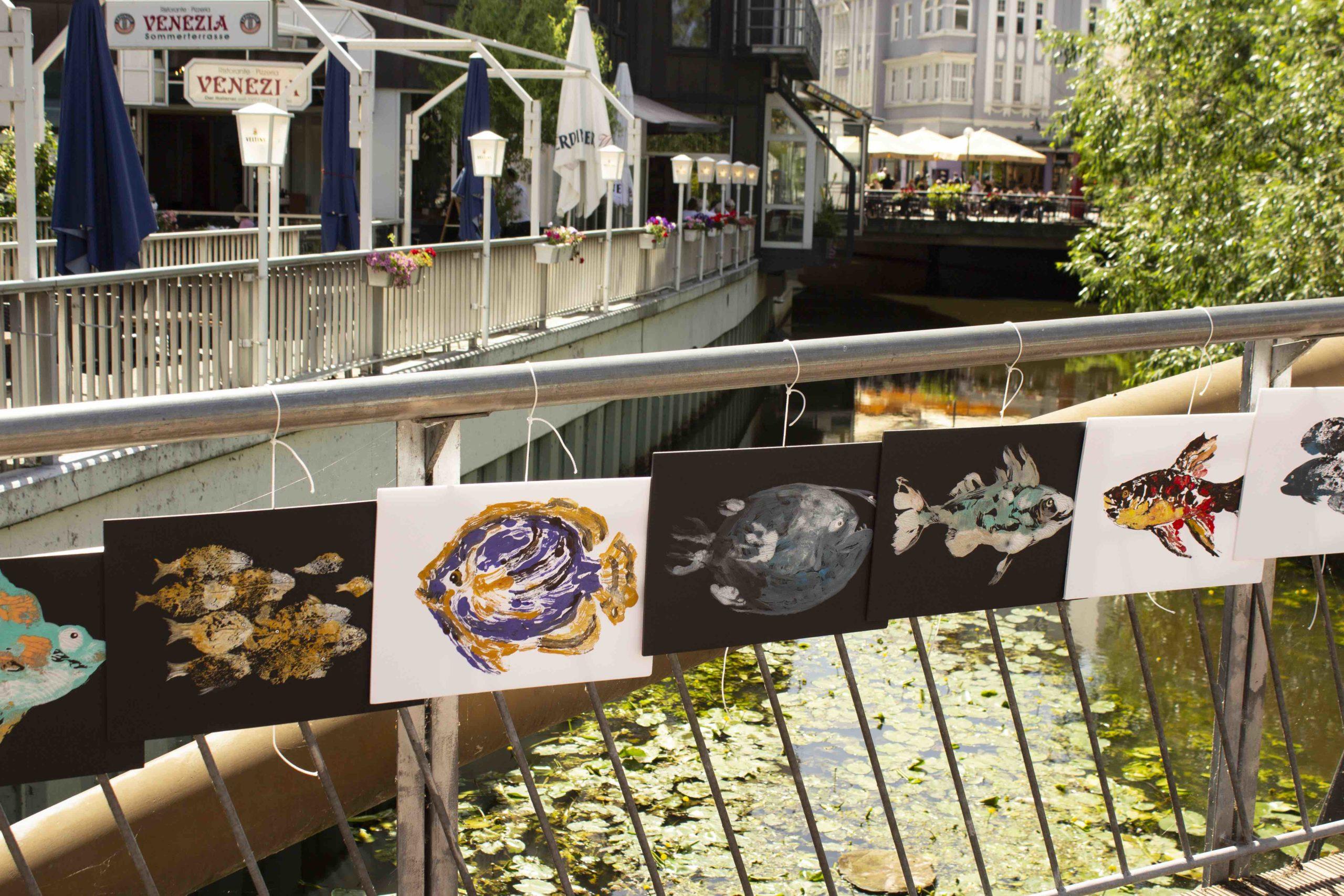 Die Osnabrücker Künstlerin Anna Budina warb mit ihrer Ausstellung